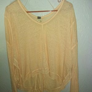 We The Free People XS Peach Oversized Shirt